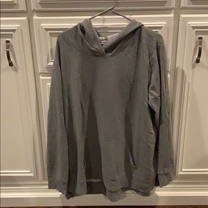 Gray hoodie with side slits